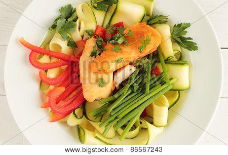 Chicken and zucchini salad