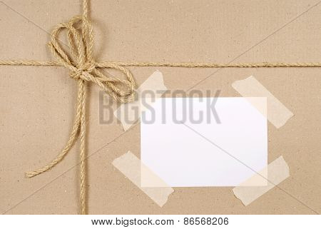 Brown Parcel Background With String