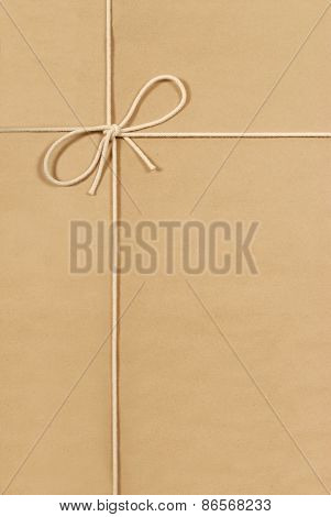 Brown Parcel With Cream Cotton String