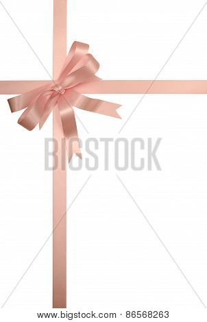 Soft Pink Gift Ribbon And Bow