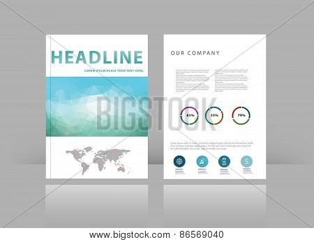 Brochure Cover Design Vector Template.