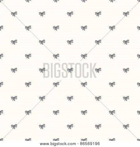 Vector seamless retro pattern, with bow tie