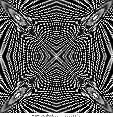 Design Monochrome Circle Movement Illusion Background