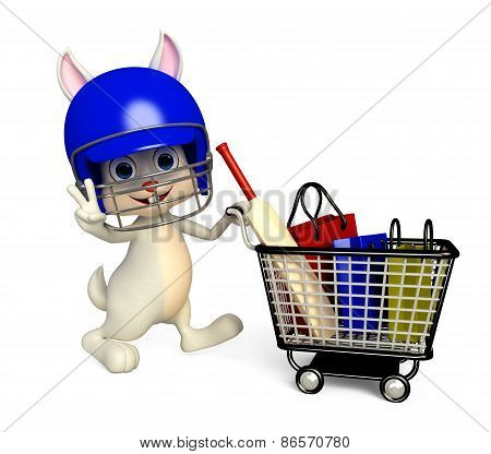 Easter Bunny With Shopping Trolley