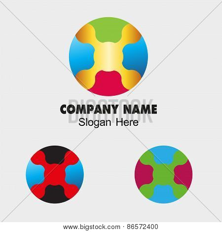 Circle Abstract Infinite symbol Template. Corporate round Icon colorful