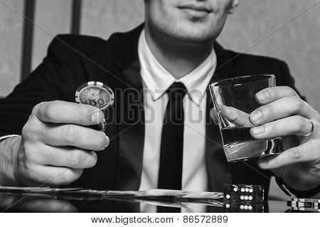 Poker player. Young guy