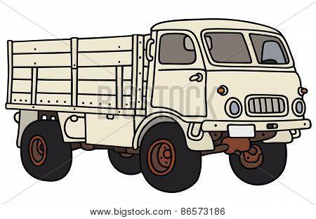 Old small terrain truck