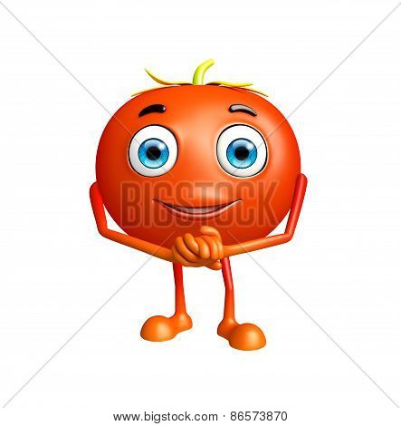 Tomato Character With Promise Pose