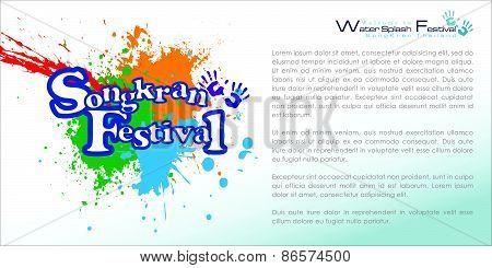 Abstract of Songkran Festival: