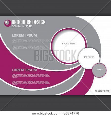 Vector horizontal presentation of business poster