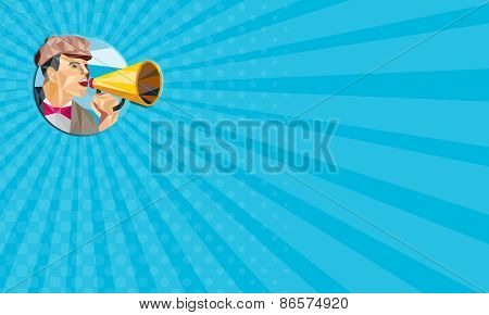 Business Card Movie Director Bullhorn Low Polygon