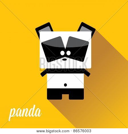 panda bear vector illustration. flat style