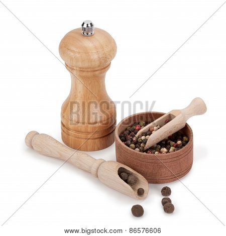 Spice, Mill And Wooden Utensils