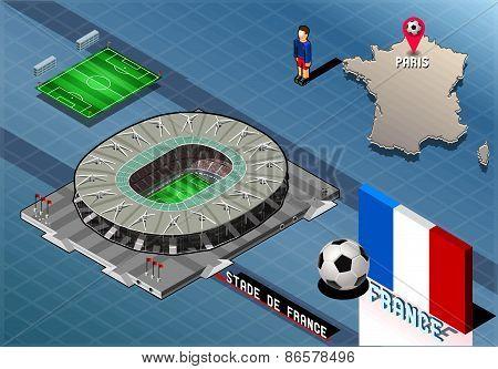 Isometric Soccer Stadium - Stadie De France Paris France