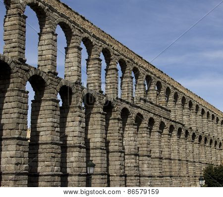 Aqueduct  In Segovia Spain