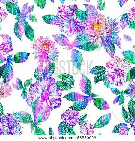 floral pattern with camellias