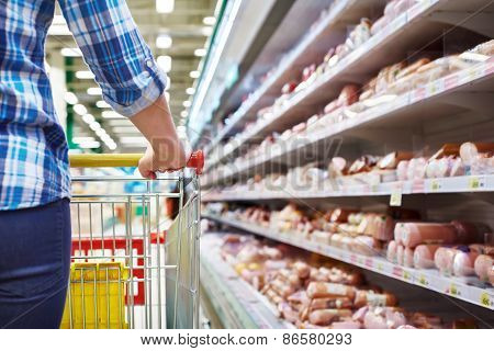 Cart Buyer In Supermarket