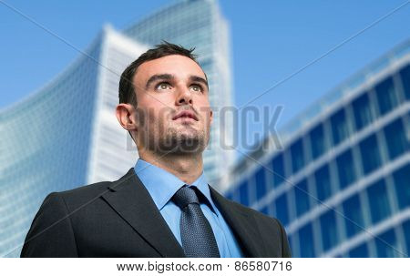Portrait of an businessman in an urban environment