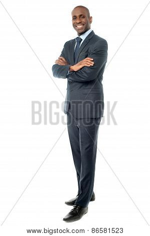 Businessman Posing Confidently