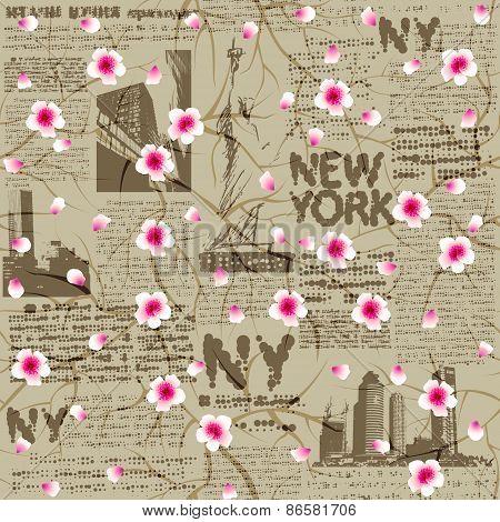 NY cherry blossom