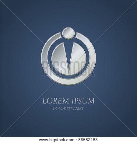 Abstract Metal Circle Shape Logo Design