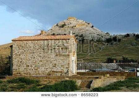 Rocks and sights of Crimea