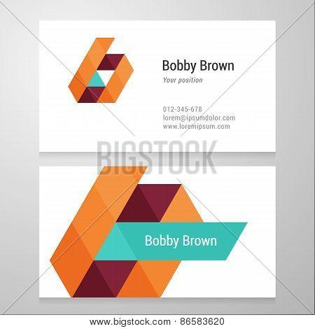 Modern Letter B Business Card Template