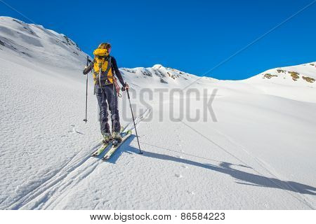 Girl Makes Ski Mountaineering, Randonnee Ski Trails