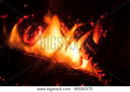 Bonfire at night