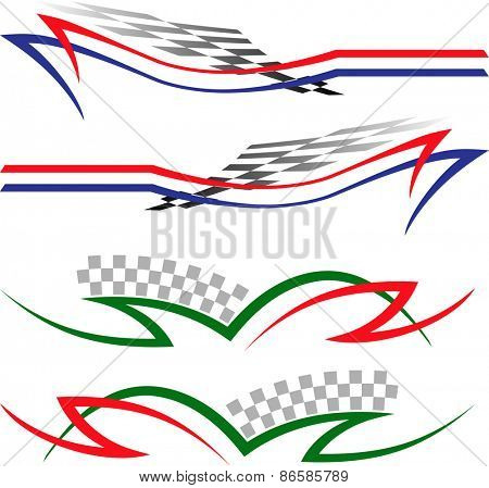 Vehicle Graphics, Stripe : Vinyl Ready Vector Art
