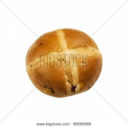 Delicious hot cross bun