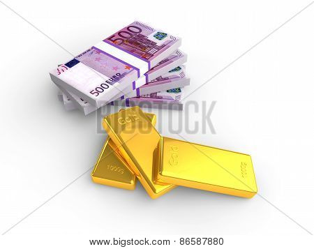 Euro money and gold