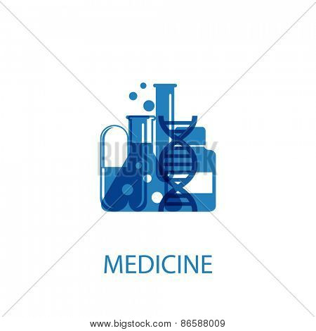 Vector illustration of an abstract character on a theme medicine