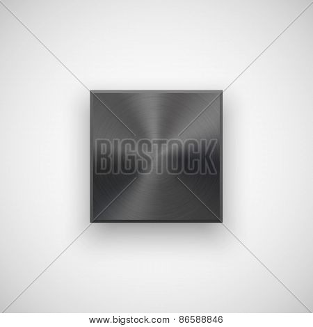 Black Abstract Square Button Template