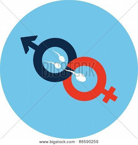 Male and Female Symbol -Fertilization