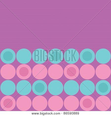 Round Dot Pattern Background Blue Pink Purple Violet Flat Design