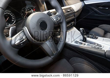 Modern car interior detail