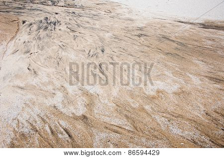Abstract Background In The Form Of Black Stains On The Sand.
