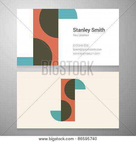 Vintage Letter S Icon Business Card Template