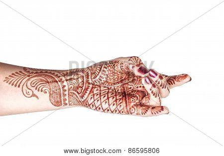 Apaan Mudra With Henna