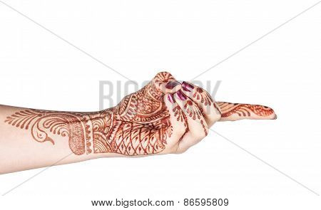 Vajra Mudra With Henna