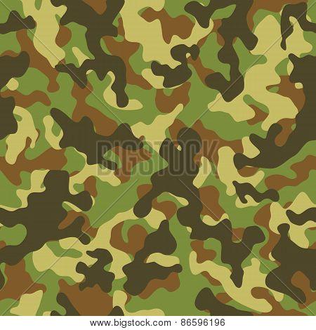 Woodland Camouflage Seamless Pattern