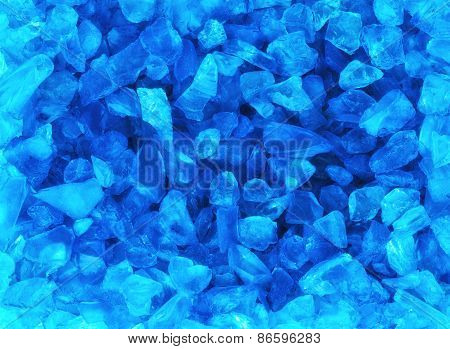 Crystal Blue Ice Background