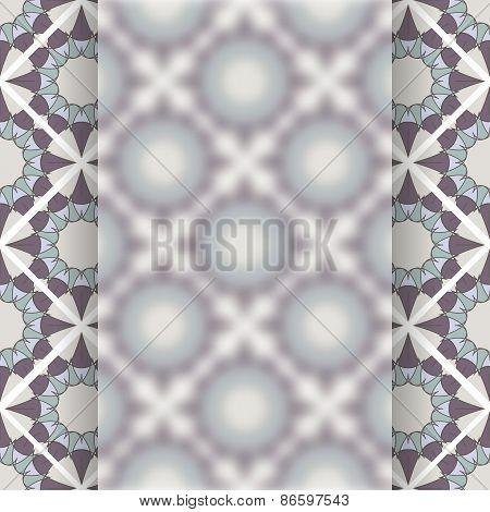Matt Glass Over Vintage Vector Pattern