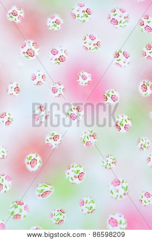 Pattern Background With Flowers