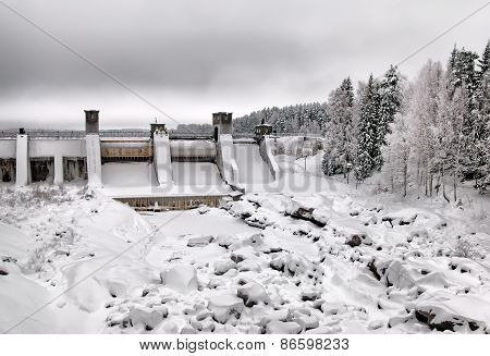 Imatra. Finland. Imatrankoski Rapid and canyon