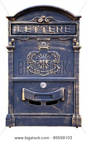 Old-fashioned mailbox