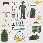 Постер, плакат: Fishing infographic elements fishing benefits and destructive fishing