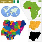 pic of nigeria  - Administrative division of the Federal Republic of Nigeria - JPG
