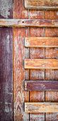 stock photo of wainscoting  - image of old wooden wall background  - JPG